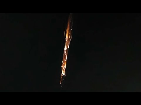 Lots of Footage of Chinese Rocket Burning up in the Sky