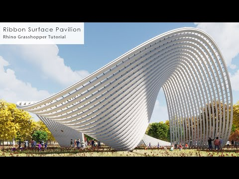 Ribbon Surface Pavilion Rhino Grasshopper Tutorial