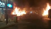 Israel. Holon - May 11th, 2021 - Gaza Rocket Causes Damage to Shops and Vehicles