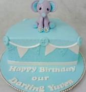6 months birthday cake for girl
