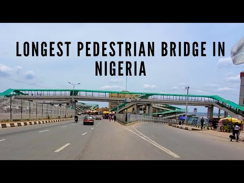 VIDEO:'I walked on the longest pedestrian bridge in Nigeria'