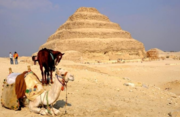 Ride a camel or a horse and ride around the step pyramid of Sakkara