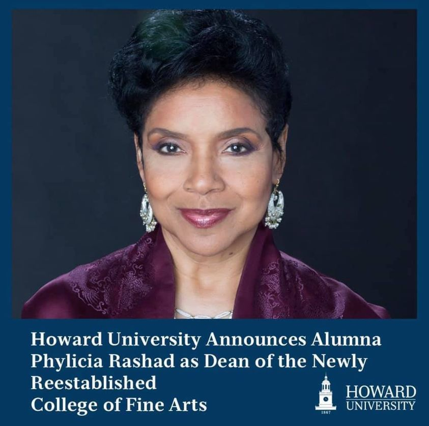 Howard University proudly announces the appointment ofPhylicia Rashadas dean of the recently reestablishedCollege of Fine Arts
