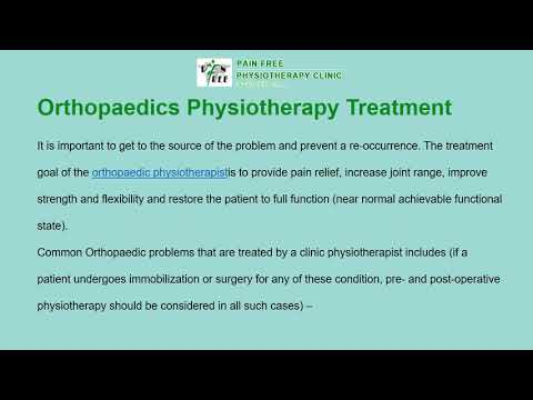 Orthopaedics Physiotherapist in Dwarka Delhi