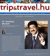 Sandeep Marwah Published in Popular Hungarian Magazine
