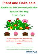 Myddleton Road Community Garden plant and cake sale