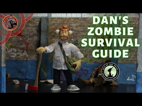 Zombie Claymation Animation | Dan's Zombie Survival Guide | Dan of the Dead