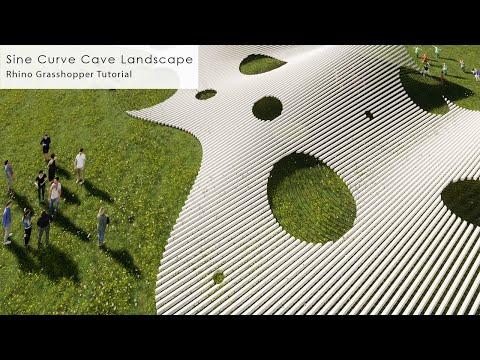 Sine Curve Cave Landscape Rhino Grasshopper Tutorial