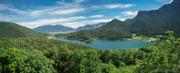 Λίμνη Δόξα- Άποψη της από την Ιερά Μονή Αγίου Γεωργίου Φενεού