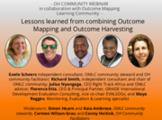 Lessons learned from combining Outcome Mapping and Outcome Harvesting