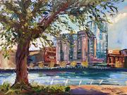 Riverfront Limerick, Sunny Spring Morning