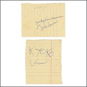 John Lennon, Yoko Ono and Kyoko Ono 1969 Scotland Autographs