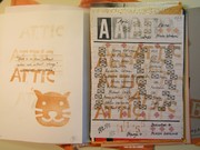 Contents page Attic assembling zine (#15) edited by Nicola Winborn (UK)