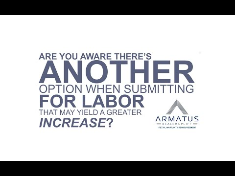 Consider Doing a Statutory Submission for Your Annual warranty Labor Rate Increase with Armatus