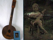 1920's Boy with tin can banjo
