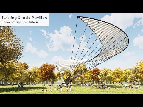 Twisting Shade Pavilion Rhino Grasshopper Tutorial