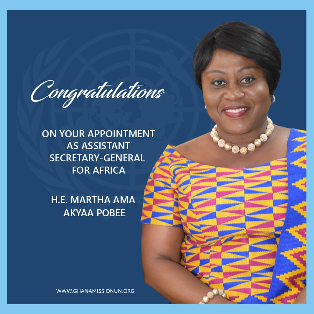 Ms. Martha Ama Akyaa Pobee of Ghana appointed Assistant Secretary-General for Africa