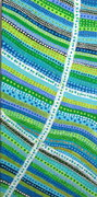 Green and Blue Lines and Dots