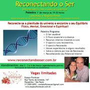 Palestra e atendimentos de Cura Reconectiva e Reconexão em São Paulo