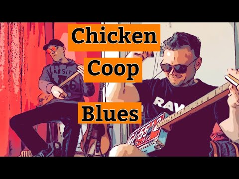 Chicken coop blues played by dual CBGS.