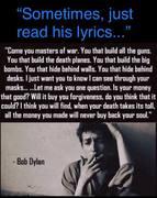 """Sometimes, just read his lyrics..."""