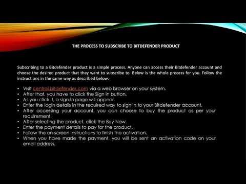 Bitdefender com/activate