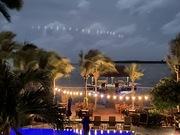 A Beautiful Full Moon Lit Night at Chabil Mar Belize Resort