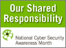 Oct is National Cyber Security Awareness Month