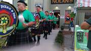 Brevard Police & Fire Pipes & Drums at Nolan's.