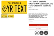 1957 state exempt california license plate