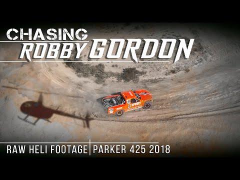 Chasing Robby Gordon - Raw Heli Footage