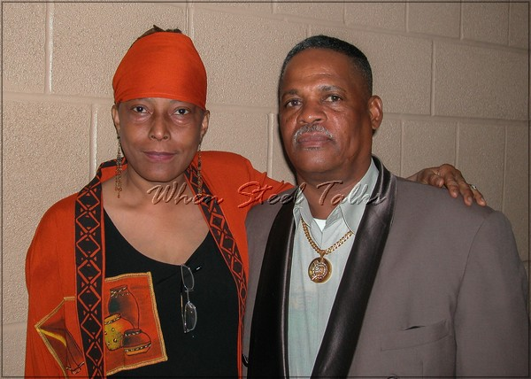 Claudette Baptiste, founder of Women In Steel with Lincoln Crichlow - NY Pan Stars/Sonatas