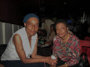 Claudette Baptiste, founder of Women In Steel with Glenda Gamory of Pantonic