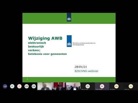 Webinar Wet modernisering elektronisch bestuurlijk verkeer 28-1-2021