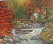 La cabane dans les bois en automne