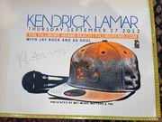 Kendrick Lamar Signed Poster. Circa 2012