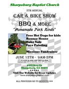 Car and Motorcycle Show, BBQ and More (Sharpsburg, GA)