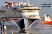 First LNG powered passenger ship arrives at Port Canaveral