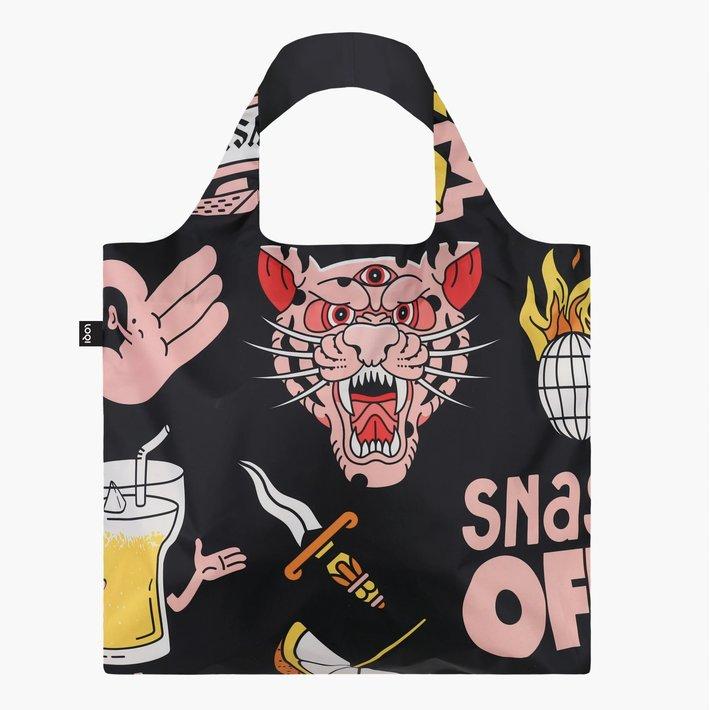 Tiger Snake Beer Black Recycled Bag