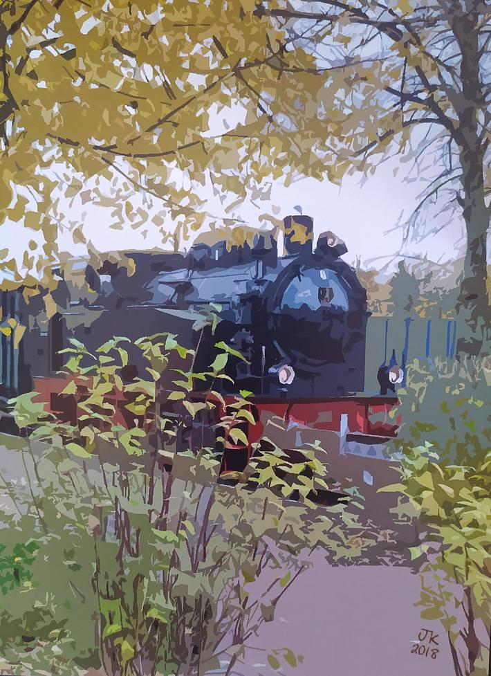Historic steam Tram