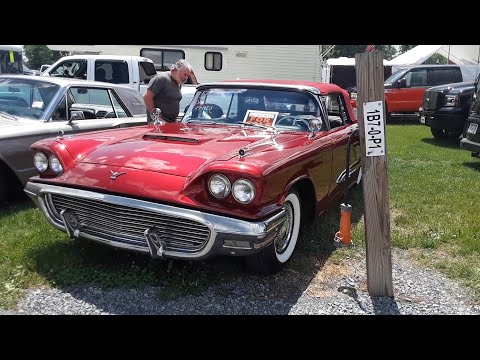 Cars In the 2021 Ford Nationals Swap Meet '77 Granada With 740hp,59 Thunderbird Conv,'64 Thunderbird