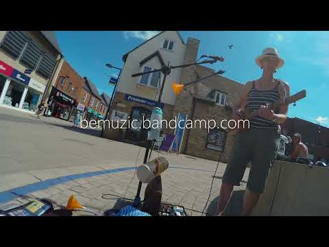 A couple of songs from this week's  busk, with 3 String Cigar Box Guitar