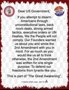 The Great Awakening and The 2nd Ammendment