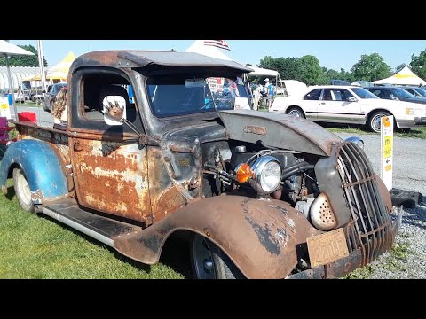 Richie's Rat Rod B 17 and Josh's Rat Truck At the 2021 Ford Nationals
