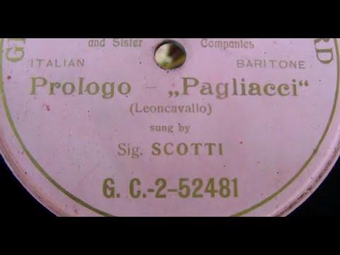 Antonio Scotti sings the Pagliacci Prologo Edison Grand Opera Series 1905