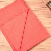 Coral Pink Certified Cashmere Scarf