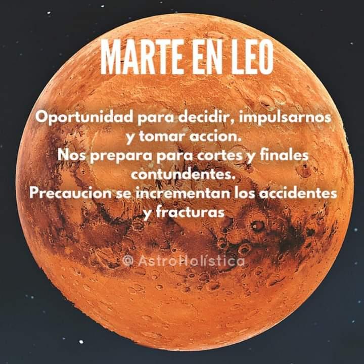 Marte en Leo, Astróloga Lilia Lordi