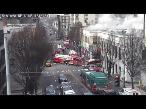 Seattle Traffic Cam Captures Two-Alarm Fire