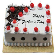 Fathers Day Square Black Forest Cake