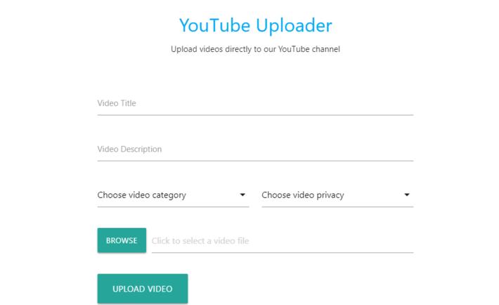 Youtube Uploader for Surveyors
